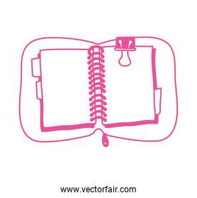 notebook school supply with clip