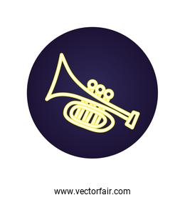 trumpet musical instrument isolated icon