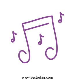 music notes sound isolated icon