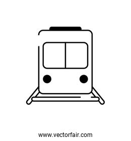 train wagon railway transport line style icon