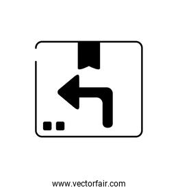cardboard box distribution cargo delivery line style icon