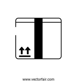 cardboard box cargo delivery line style icon