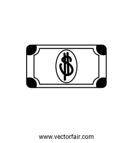 money business financial banknote cash line style icon