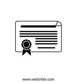 certificate document money business financial line style icon