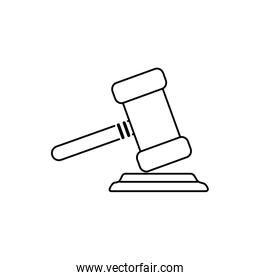 money business financial law justice hammer line style icon