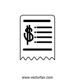 money business financial voucher trade line style icon