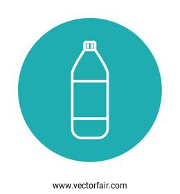cleaning product bottle icon, block style