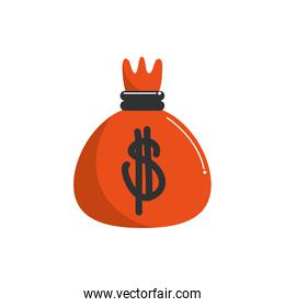 money business financial bag bank inverst color tone and fill