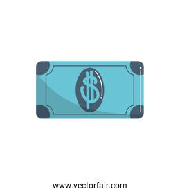 money business financial banknote cash color tone and fill