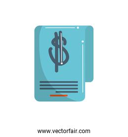 money business financial bill commerce market color tone and fill