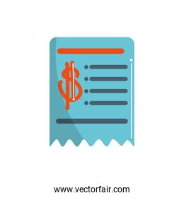 money business financial voucher trade color tone and fill