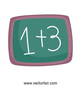 back to school chalkboard with math examples arithmetic