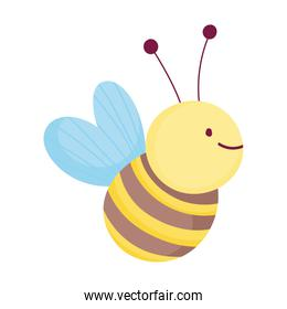 cute bee insect design icon on white background