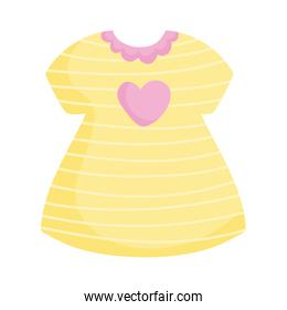yellow dress with heart love and stripes fashion icon