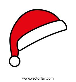 cute red santa claus hat on white background