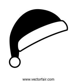 cute santa claus hat on white background
