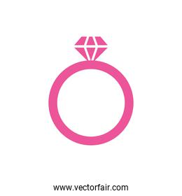 ring proposal married isolated icon