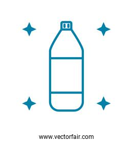 cleaning product bottle icon, line style