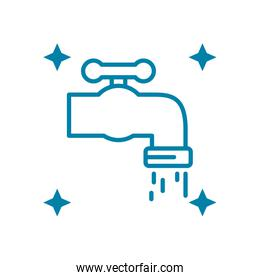water faucet icon, line style