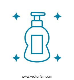hand soap bottle icon, line style