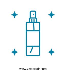 cleaning spray portable bottle icon, line style