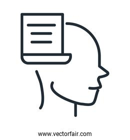 alzheimers disease neurological brain difficulty planning line style icon