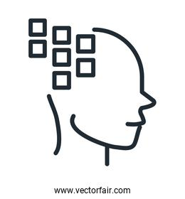 alzheimers disease neurological brain medical condition line style icon
