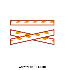 security tapes icon, half line half color style