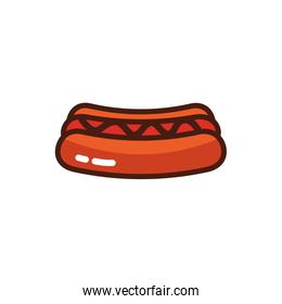 hot dog fast food icon