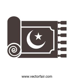 traditional carpet moon and star decoration ramadan arabic islamic celebration silhouette style icon