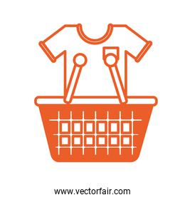 shopping basket with shirt icon