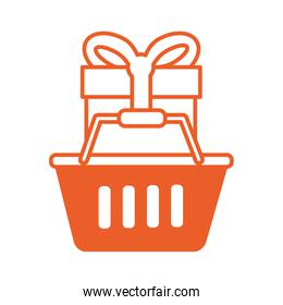 shopping basket market with gift