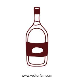 wine bottle drink isolated icon