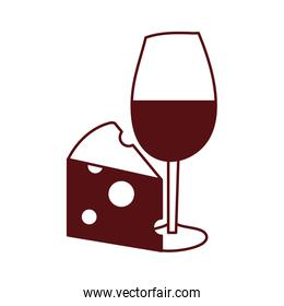 wine cup drink with cheese