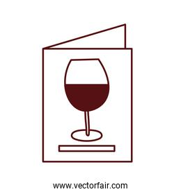 isolated wine cup drink in card menu