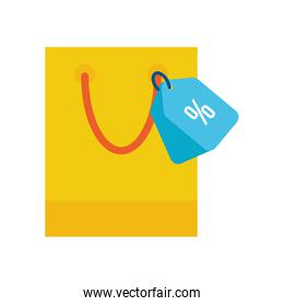paper shopping bag with percent tag