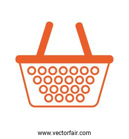 shopping basket market isolated icon
