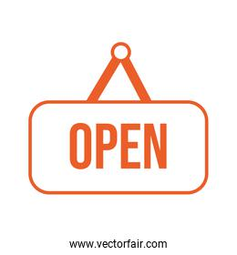 open store label hanging icon