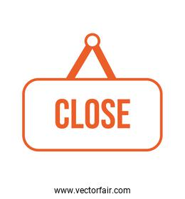close store label hanging icon