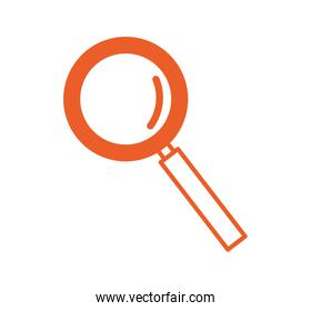 magnifying glass zoom isolated icon