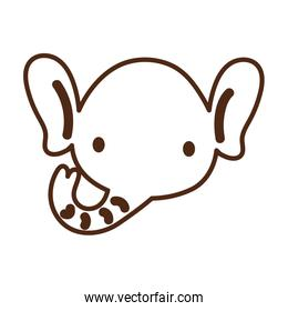cute elephant wild animal character icon