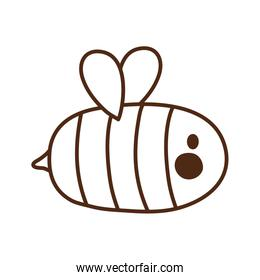 cute little bee insect icon