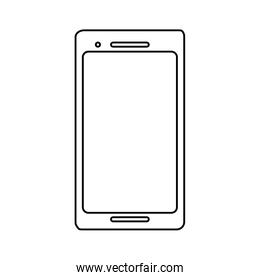 smartphone screen on white background