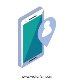 smartphone screen in 3d on white background