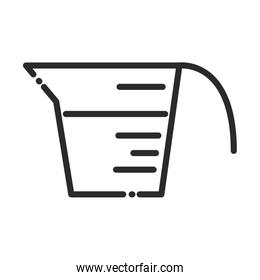 cleaning, measuring cup laundry domestic hygiene line style icon