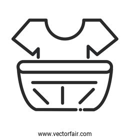 cleaning, shirt in plastic basin laundry domestic hygiene line style icon