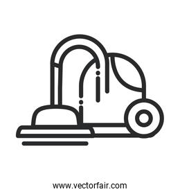 cleaning, vaccum cleaner appliance domestic hygiene line style icon