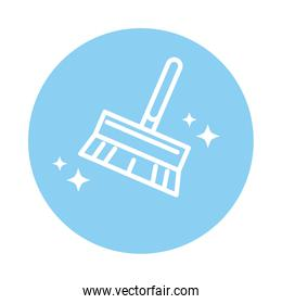 cleaning, brush service domestic hygiene block color style icon