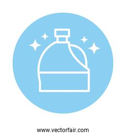 cleaning, plastic bottle of disinfectant domestic hygiene block color style icon