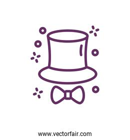 magic tophat sorcery isolated icon